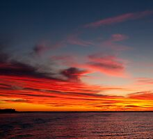 sunset at murchison river mouth by kalbarririch