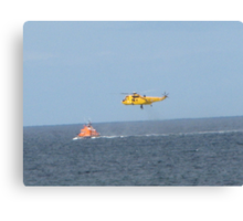 Winched to safety Canvas Print