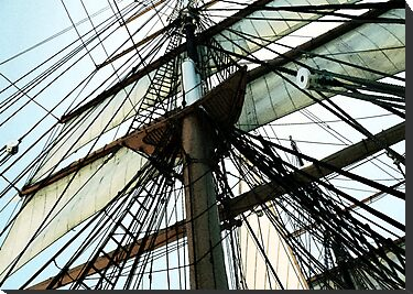 Tall Ship Mast And Sails by sunrisern