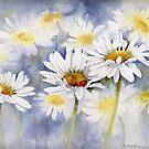Asleep in a Daisy by artbyrachel