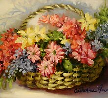 Basket of Wild Flowers by Cathy Amendola