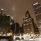 Chicago by night - Wacker drive by Julien Delebecque