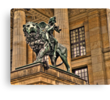 Impressive Statue In Berlin Germany Canvas Print