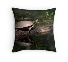 Yellow-bellied Slider - 1st Landing State Park Virginia Throw Pillow