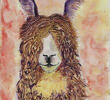 Happy Alpaca by carol selchert