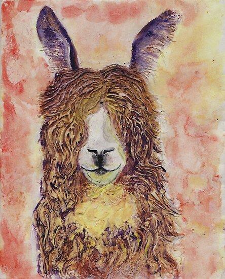 Happy Alpaca by carol selchert