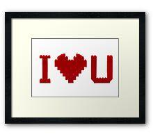 I love U Framed Print