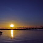 Twilight...,St Kilda Beach,Melbourne,Australia by Max R Daely