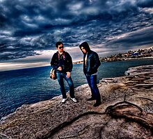 HDR: Winston and me on bondi cliff (sydney, NSW, Australia) by justdaryl