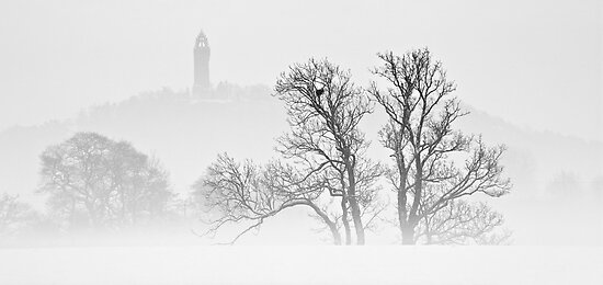 Monument - Through The Winter's Mist by Kevin Skinner