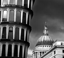 London Juxtaposition BW by Andy Freer