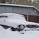 Chevrolet Bel Air 1957 in the snow by Paola Svensson