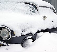 Chevy Bel Air 1957 under the snow by Paola Svensson