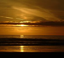 Golden sunset on Stinson Beach by Alberta Brown Buller