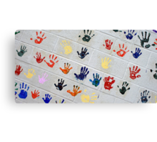 ...this is the hand you used to hold when i was only 5 years old... Canvas Print