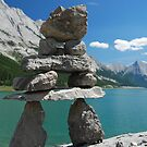 Inukshuk of Medicine Lake ~ Alberta by Barbara Burkhardt