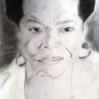 maya angelou charcoal sketch by jikpe