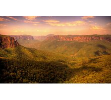 Leap of Faith - Govetts Leap, Blue Mountains World Heritage Area - The HDR Experience Photographic Print
