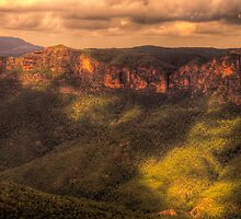Chasing The Light - Govetts Leap - Blue Mountains World Heritage Area -The HDR Experience by Philip Johnson