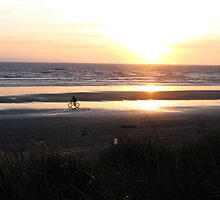 A Sunset Ride on the Oregon Coast by Chuck Gardner