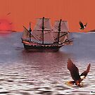 Sunset At Eagle Bay by Madeline M  Allen
