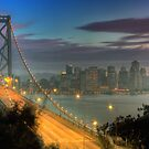 Bay Bridge &amp; San Francisco Cityscape by Vincent James