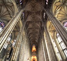 From Below - Canterbury Cathedral - Kent Series by LeeMartinImages