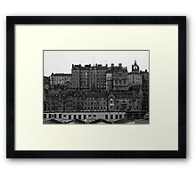 Layers Of Edinburgh Framed Print