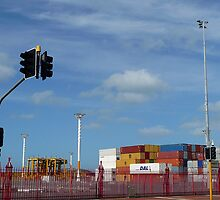 Container Port Auckland NZ by Sevenm2