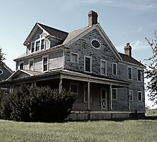 Abandoned House on Fort Howard. North Point, Maryland. 2008 by jwhimages