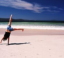Cartwheeling on the beach- Albany, Western Australia by Ashley-Nicole