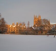 Christ Church playing fields in the snow by Catherine Young