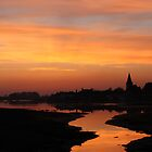 Sunset At Bosham Harbour by Jane Burridge