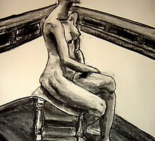 seated woman 3 by Jeremy Wallace