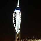 Spinnaker Tower At Night by Jane Burridge