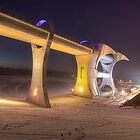 Falkirk Wheel In Winter by KitDowney