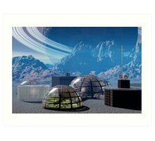 Outpost 47.  Remote base in outer space. Art Print