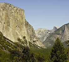El Capitan with Half Dome in the Distance by Buckwhite