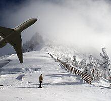 A Plane in the Snow-Photo Montage by Matt Rhodes
