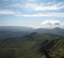 Welsh coast from the peak, Mt Snowdon by Catherine Young