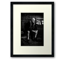 Its been a hard life Framed Print