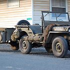 US Army jeep with trailer by Steven Squizzero