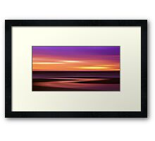 Slow Motion - abstract sunset Framed Print