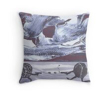 Dueling Beans at The Last Stand Coffee Co. Throw Pillow