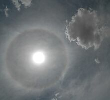 Solar Halo & Clouds, Temora Airport by muz2142