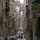 Street scene, Valletta, Malta by Adamdabs
