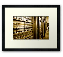 Law Book Library Framed Print