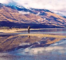'Hooked on Reflections,' Lake Wakatipu, New Zealand by Kiwiscot