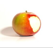 Isolated Bitten Apple by Brandon Edwards