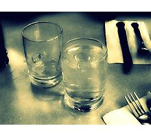 Water Glasses Photographic Print